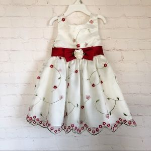[Youngland] toddler floral embroidered dress 2T